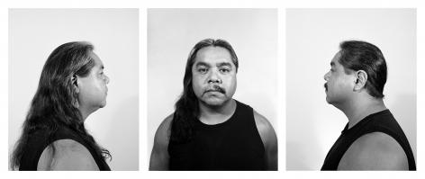Half Indian/Half Mexican, 1991, Silver gelatin print