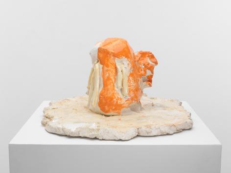 Kopf Weint, 2012, Glazed ceramic