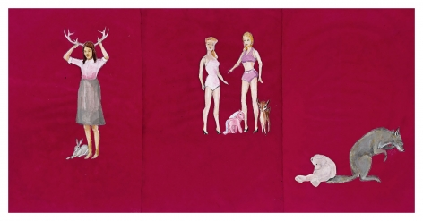 My Life as Performed by Coyote and Various Toys, 2012, Mixed media on paper