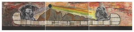 Trade Canoe: The Dark Side, 2017–2018, Mixed media on canvas