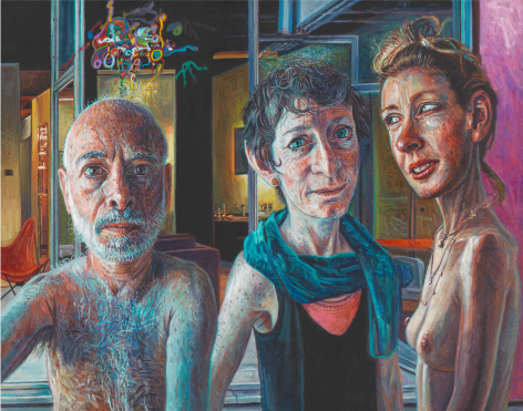 Passionate Friends, 2008, Oil on linen mounted to board