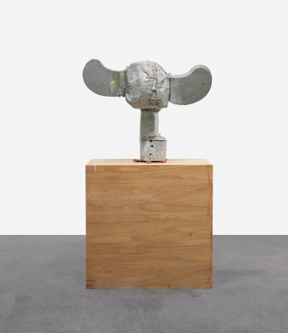 Block Head, 2013, Aluminum and wood