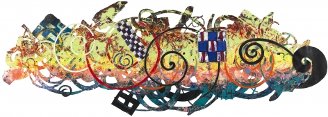 James, 1989, Mixed media on paper collage