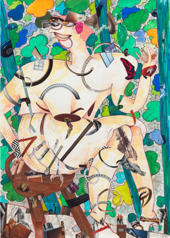 A Girl in the Arbor #7, 2013, Mixed media on paper