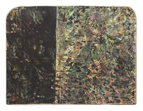 Untitled (Floyd Street), 1986, Mixed media on panel