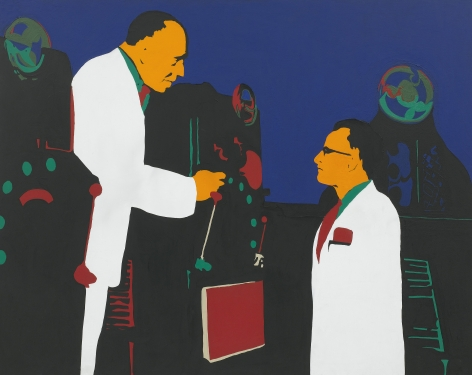 Rosalyn Drexler, The Lesson (Men and Machines), 1962