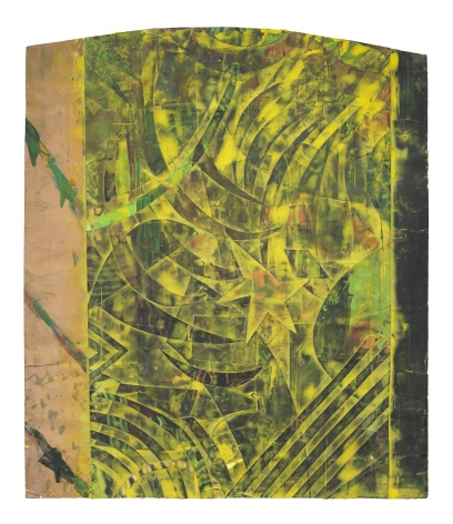 Burlesque, 1985 Monoprint, acrylic and collage on paper