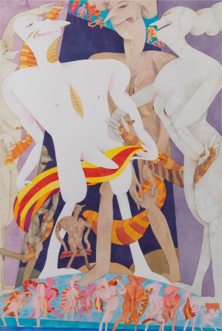 Terry Towel, 1986–1987, Watercolor on paper