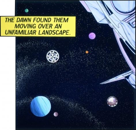 Satan's Satellites, 1982, Mixed media on canvas