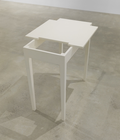 A Slightly Darker White Table, 1985, Enamel on maple and solid core plywood
