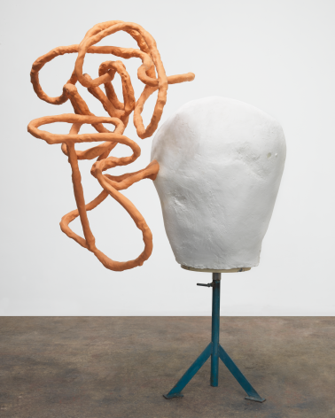 Playin' the Ink, 2013, Plaster, aluminum, epoxy, and steel