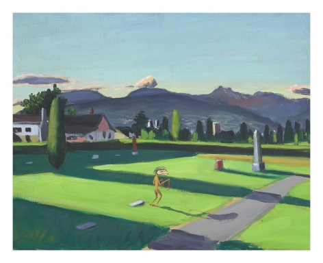 Mountain View Cemetery, 1996, Oil on canvas