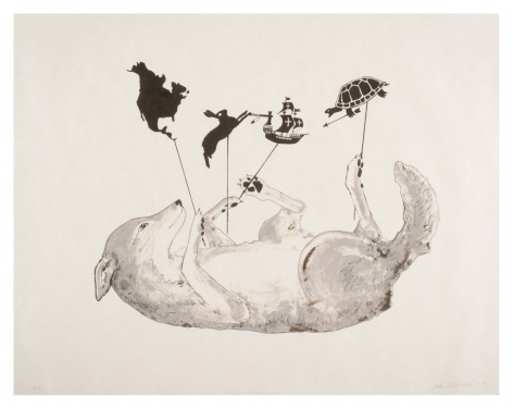 Revisionist History Lesson, 2015, Lithograph on japanese paper