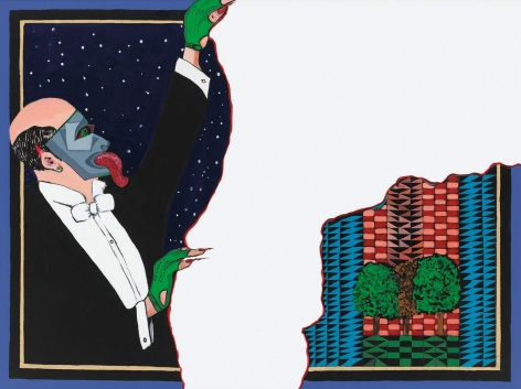 City Planner, 1989, Acrylic and paper collage on canvas