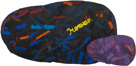 Mother: Umbra Penumbra, 1997, Mixed media on canvas