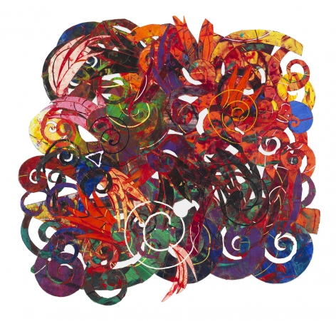 Perpetual Motion #4, 1993, Mixed media on paper collage