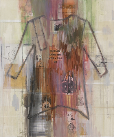 I See Red: Indian Wars Not Over, 1998, Mixed media on canvas
