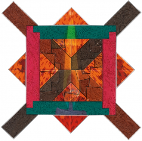 Double Crosser, 1991, Oil on canvas and wood