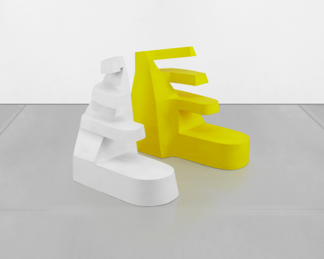 Yellow and White, 1967, Acrylic on wood