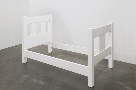 A Sculpture of a Bed, 2018, Enamel on eastern maple