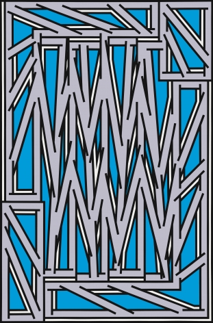 Nicholas Krushenick, Grill, 1977