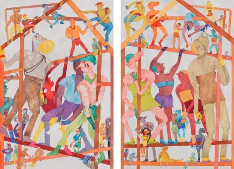 Léger Faire, 1986–1987, Watercolor on paper