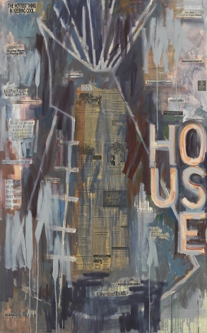 I See Red: House II, 1995, Mixed media on canvas
