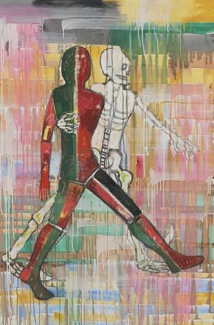Waltz, 2002, Mixed media on canvas