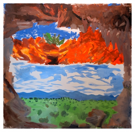 Cieneguilla Caves, 2019, Acrylic on canvas