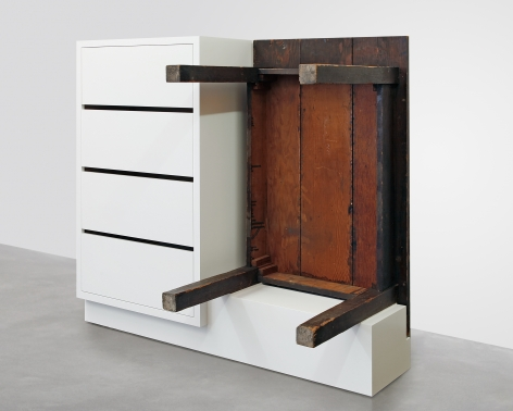 Chest of Drawers with Table, 2016, Enamel on eastern maple and plywood, found table