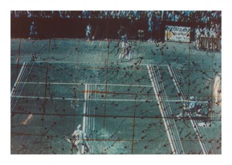 Video Drawings: Tennis, 1975, Chromogenic print