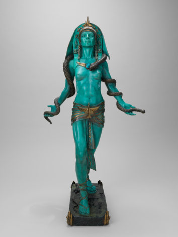 Egyptian Rocket Goddess, 1990, Patinated and gilded bronze