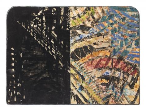 Floyd Street, 1986, Mixed media on panel