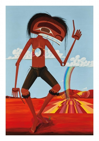 Redman! Dance on Sovereignty, Dance Me Outside Anywhere I Want, 1985, Acrylic on canvas