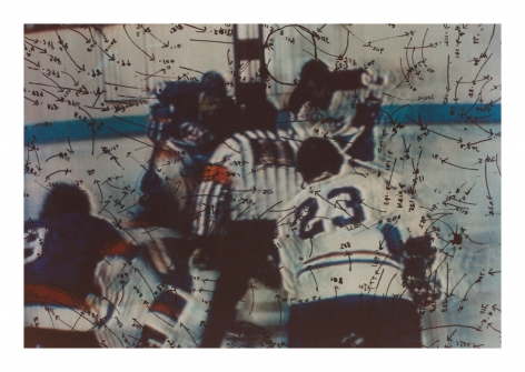 Video Drawings: Hockey, 1975, Chromogenic print