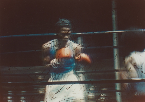 Video Drawings: Boxing, 1976, Chromogenic print