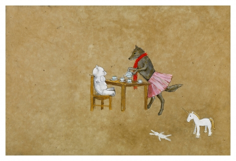 Tea Party (Day One), 2008, Mixed media on paper