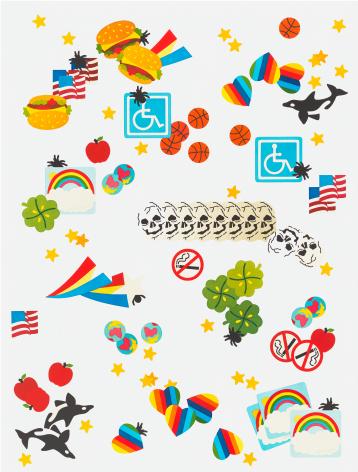 Matthew Palladino Sticker Book #3, 2014