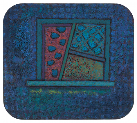 Untitled, 1983–1984, Casein and modeling paste on wood