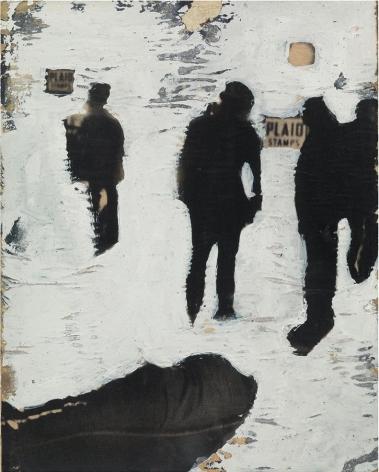 Rosalyn Drexler, Shadow Figures in the City, 1962
