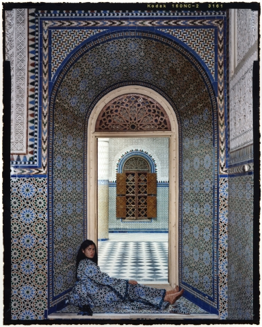 Lalla Essaydi Harem #14C, 2009 Chromogenic print mounted to aluminum with UV protective laminate 24 x 20 inches