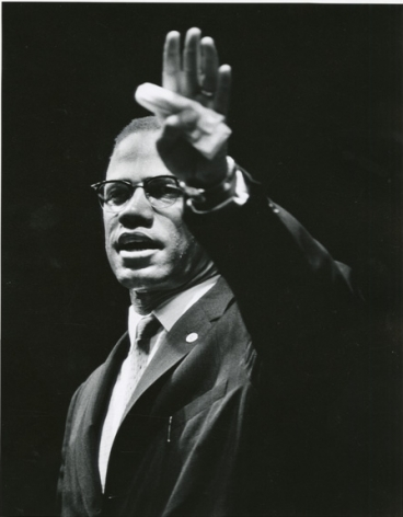 Gordon Parks, Malcolm X at Rally, Chicago, Illinois, 1963, gelatin silver print