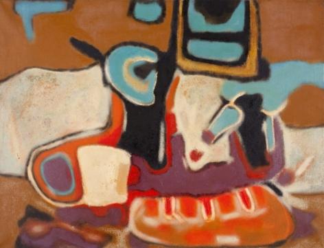Aubrey Williams Quetzalcoatl Series IV, 1973 oil on canvas 36 1/4 x 78 1/2 inches, © Estate of Aubrey Williams