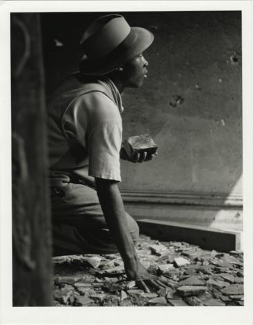Gordon Parks, Gang Member with Brick, Harlem, New York, 1948, gelatin silver print