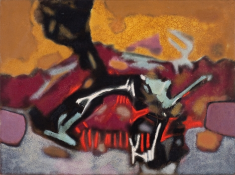 Aubrey Williams Quetzalcoatl Series II, 1973 oil on canvas 36 1/16 x 48 1/16 inches, © Estate of Aubrey Williams