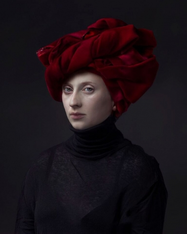 Hendrik Kerstens, Red Turban, 2015, pigment print, 40 x 30 inches