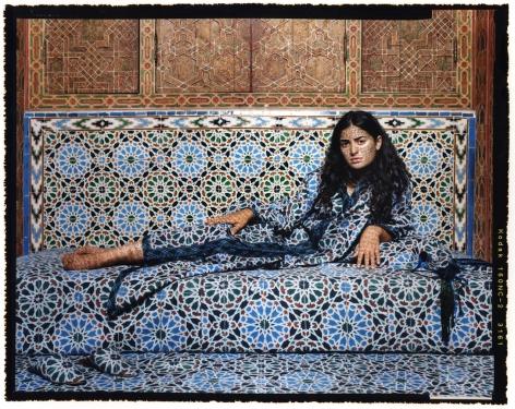 Lalla Essaydi, Harem #2, 2009, chromogenic print, 48 x 60 inches