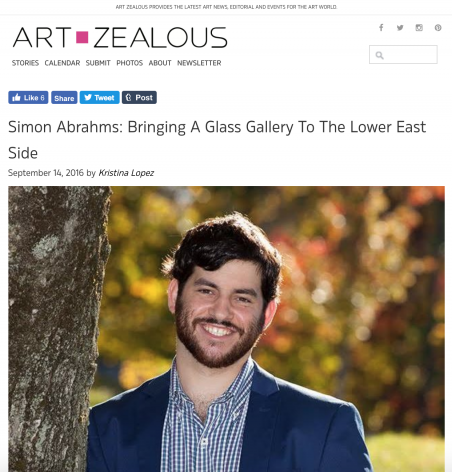 Simon Abrahms: Bringing A Glass Gallery To The Lower East Side