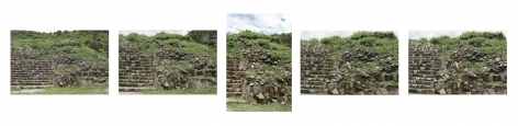 Ana Mendieta Burial Pyramid, 1974 / 2010 Suite of five color photographs 16 x 20 inches each (40.7 x 50.8 cm each)   Edition of 10