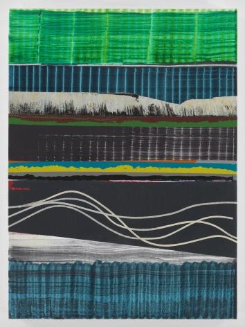 Juan Uslé Cabellos de Agua Vinyl, dispersion, and dry pigment on canvas 22 1/8 x 16 1/8 in (56 x 41 cm) (GL14956)